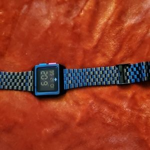Adidas Watches Archive_M1. Men's 70's Style Stainless Steel Digital Watch